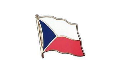 Tschechien Flaggen Pin, tschechische Fahne 2x2cm, MaxFlags®