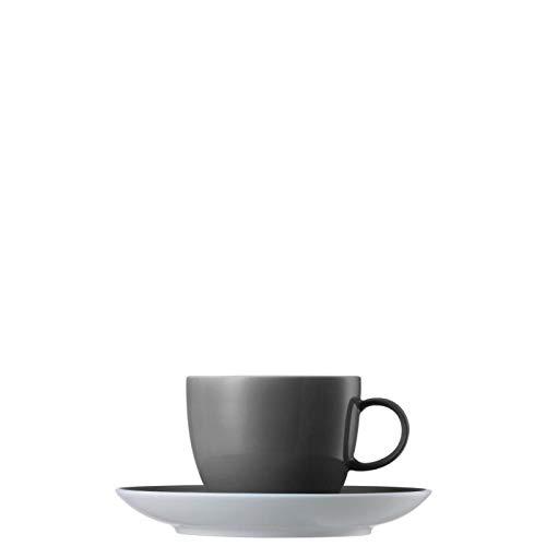 Thomas Sunny Day Tasse à Café et Soucoupe, Porcelaine, Gris, Passe au Lave-Vaisselle, 20 cl, 2-pcs., 14740