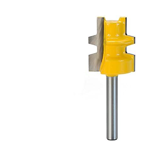 Broca de enrutador de juntas 8 mm 1/4 '' (6,35 mm) Cortador de espiga de carburo de vástago con adaptador Herramientas de carpintería Cortador de fresado de madera-Vástago de 6,35 mm