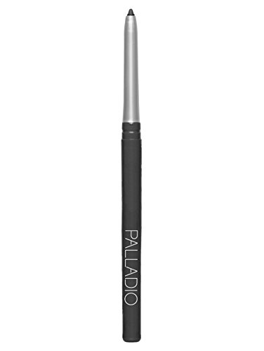 Palladio Retractable Waterproof Eyeliner, Smokey, Richly Pigmented and Creamy, Slim Twist Up Pencil Eyeliner, No Smudge Formula with Long Lasting Application, No Eyeliner Sharpener Required
