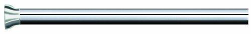 Spirella Teleskop Duschstange Duschvorhangstange, Teleskopstange Magic Verstellbereich 75-125 cm, Ø21mm, Edelstahl - zum kleben oder Bohren