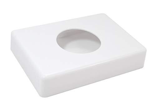 Hygienebags-Halterung, Kunststoffspender weiß/chrom, Hygienebeutel Dispenser, Hygienebeutelspender 138 x 98 x 26 mm, Farbe:weiß