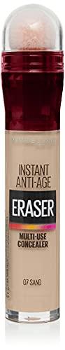 Maybelline Instant Anti Age Eraser Eye Concealer, Dark Circles and Blemish Concealer, Ultra Blendable Formula, 00 Ivory