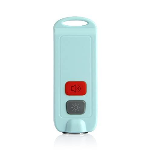 防犯ブザー USB充電式 懐中電灯 130dB 大音量 防水 LEDライト付き ランドセルに付ける 防犯グッズ (ブルー)