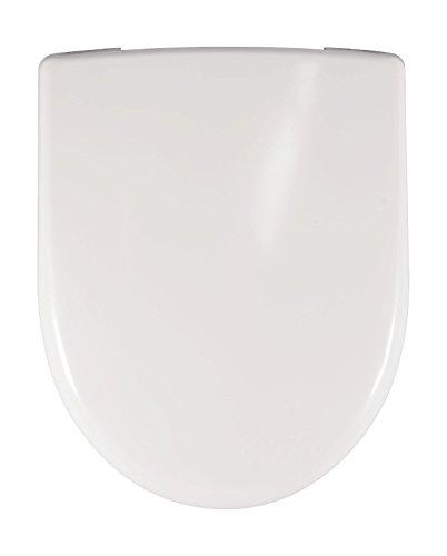 Geberit WC Sitz Renova (Deckel überlappend, Befestigung von oben, Farbe weiß, Duroplast, ohne Absenkautomatik) 573015000