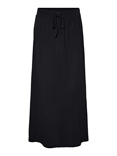 Vero Moda Vmava NW Ancle Skirt Ga Noos Falda, Negro, L para Mujer
