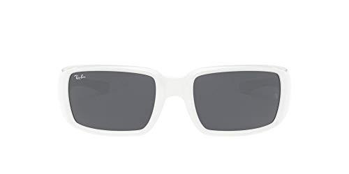 Ray-Ban 0RB4338 Gafas, White, 59 Unisex