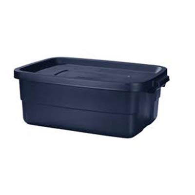 Rubbermaid RMRT100004 Roughneck Storage Tote, 10-Gallons - Quantity 8