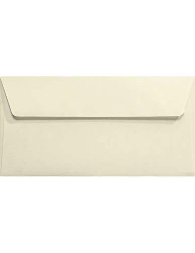 Netuno 25 Ecru DIN Lang Briefkuverts gerippt 110x220 mm 120g Aster Laid Ivory elegante Briefumschläge DL haftklebend ohne Fenster Briefhüllen Ecru Umschläge hochwertig für Grußkarten Einladungskarten