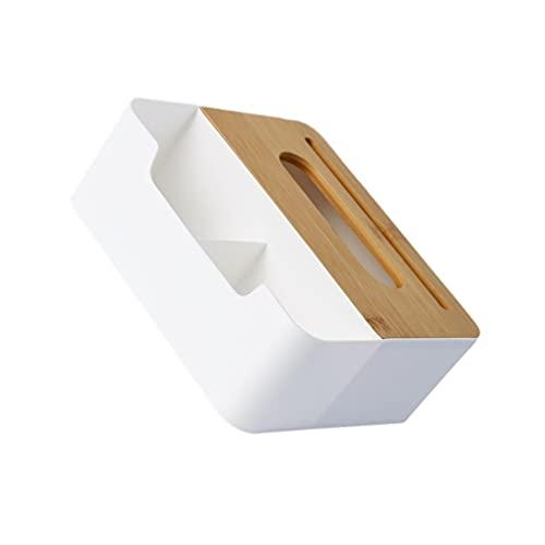 Cabilock Caja de Pañuelos de Papel Rectangular con Caja de Lápices Diversos Caja Portátil Dispensador de Servilletas Contenedor 21. 5X18x8cm para Baño Tocador Encimera Dormitorio