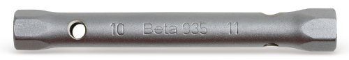 Beta 935 10X11 Chiavi a tubo doppie esagonali serie leggera cromate satinate