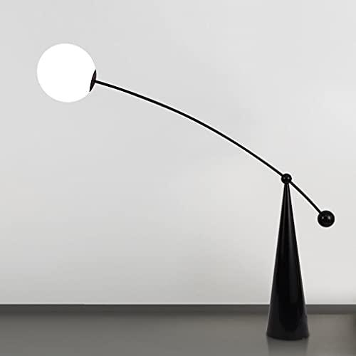 YWSZJ Lámpara de pie Minimalista nórdica Lámparas de Pesca de Pintura Aerosol de Cristal Helada para Sala de Estar Dormitorio Decoración de Noche LED Lámparas de pie Lámparas de pie