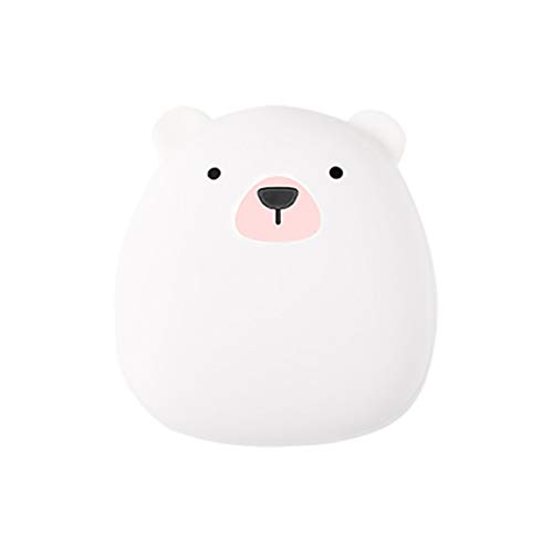 Shan-S Hand Warmer, Portable Cute Cartoon Animal Polar Bear/Penguin Shape 4000mAh USB Rechargeable Electric Portable Double-Sided Pocket Power Bank Heat Best Gift for Winter Home Office Use