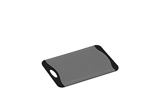 KESPER 30877 Kunststoff Schneidbrett 25 cm mit Rutsch-Stopp/Schneidebrett/Tranchierbrett/Schneideunterlage
