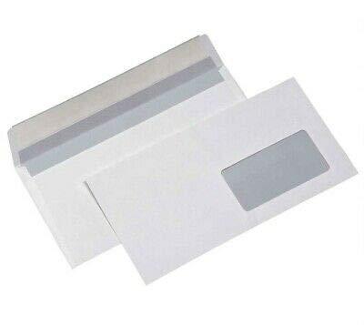 Buste bianche commerciali 11x23cm con finestra 500pz 11 x 23 cm con strip adesivo BLASETTI