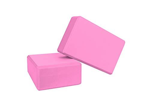 Bayso Yoga Block(Set of 2) Latex Free EVA Foam Soft Non-Slip Surface for Pilates Yoga Brick (Pink) by Bayso