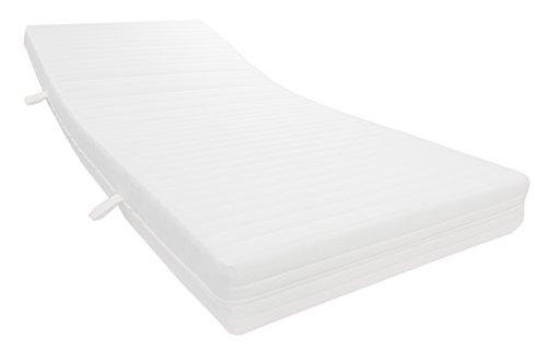Dibapur - Colchón de espuma fría (9 zonas, ortopédico, selección de aprox. Núcleo de 15,5 cm con funda de tejido doble acolchada, aprox. 16 cm. Grado de dureza: H2,5, hasta aprox. 110 kg – sello de calidad – Fabricado en Alemania