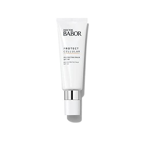 DOCTOR BABOR Crema solar SPF 50 facial, Bálsamo protector solar de rápida absorción, no pegajoso y con pantenol, Protecting Balm, 1 x 50 ml