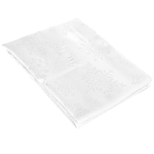 com-four® Mantel XXL - Mantel Cuadrado para Navidad - Mantel Blanco de poliéster para la Temporada de adviento - 220 x 150 cm