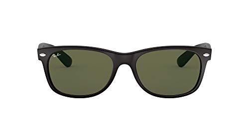 Ray Ban Unisex Sonnenbrille RB2132, Mehrfarbig (Matt-schwarz), Gr. Large (Herstellergröße: 55)