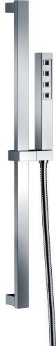 Delta Faucet Single-Spray H2Okinetic Slide Bar Hand Held Shower with Hose, Chrome 51567