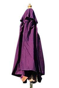 Gartensonnenschirm in Spitzenqualität aus Hartholz - 2m Spannweite - 8 Farben zur Auswahl (Violett)