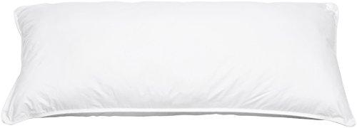Amazon Basics - Almohada de agua con bolas de fibra, 40 x 80 cm