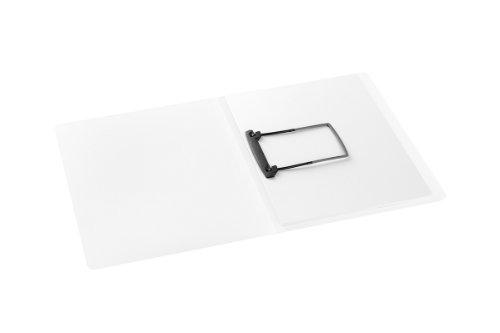 Avanti Clipmappe A4, Jalema 1401030, Kunststoffmappe mit JalemaClip-Heftmechanik, 15er Packung, weiß-transparent