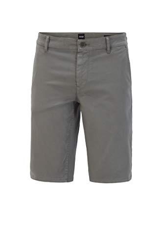 BOSS Herren Schino-Slim Shorts Slim-Fit Chino-Shorts aus doppelt gefärbtem Stretch-Satin