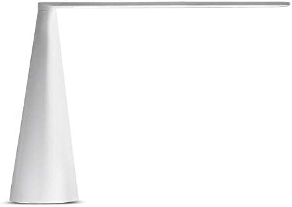 Martinelli luce elica,lampada da tavolo a luce diretta girevole,struttura base e braccio in alluminio vernicia 807/BI