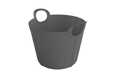 SP Berner - Barreño Grande | Cubo de Plastico con Asas - 15 litros - Antracita