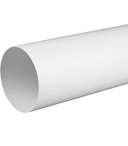 Succsale-Lüftungsrohr Rundrohr Rundkanal Ø 100, 1,0 m (1000mm) -Abluft-Rohr-Bauprofi