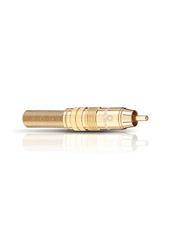 Oehlbach CJG 63 Cinch-Stecker für Kabelquerschnitt bis 8,0 mm Gold