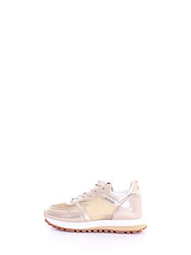 Scarpe Sneaker Running Liu-Jo MOD. Wonder in Ecopelle/Mesh Gold Donna DS20LJ14
