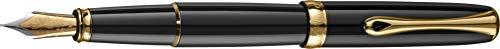 DIPLOMAT - Füllhalter Excellence A2 Lack schwarz vergoldet - Schick und elegant - Lange Lebensdauer - Schwarz