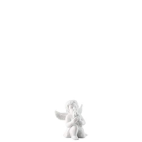 Rosenthal - Engel mit Blumen - groß - Weiss matt - Porzellan - Höhe 14 cm