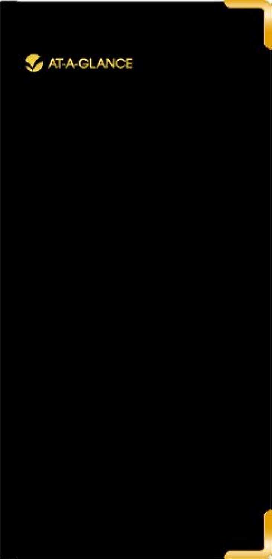 AUF EINEN BLICK 2014 Fine Tagebuch, Tagebuch, Tagebuch, wöchentliche und monatliche Tagebuch, Leder schwarz, 3,31 x 6,81 x 0,38 Zoll (70-1110-05) B00DU6MWKC  | Wir haben von unseren Kunden Lob erhalten.  32243b