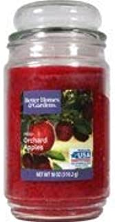 Better Homes & Gardens 18oz, Spruce jar candle with bubble lid (Fresh Orchard Apples)