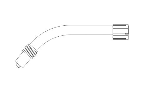 Preisvergleich Produktbild Abicor Binzel 012.0001 Schwanenhals für MB Grip 24 KD Mig / Mag Welding Torch,  50 Grad