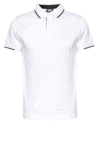 Karl Lagerfeld Herren Poloshirt Weiß XXL