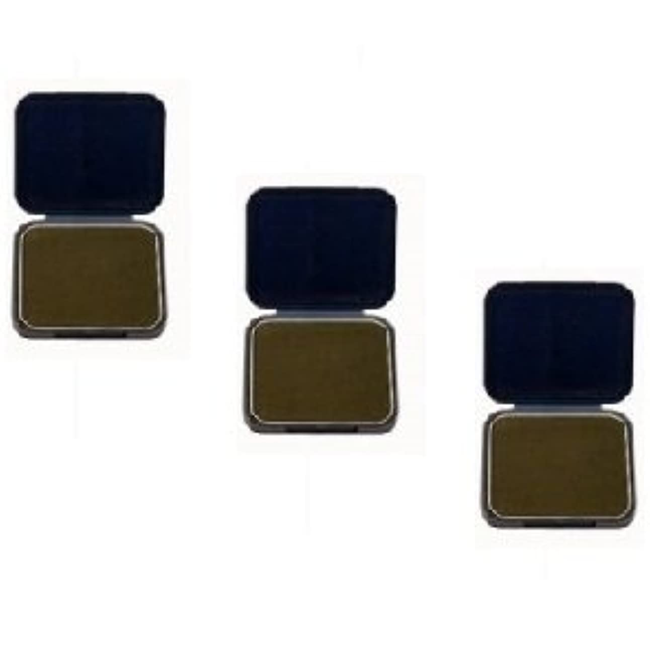 突破口溶接バンガロー【3個セット】 アモロス 黒彩 ヘアファンデーション 13g 栗 詰替え用レフィル