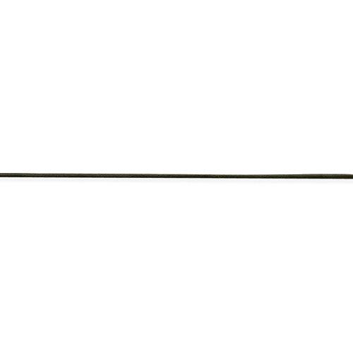 Hermoso collar de cordón de cuero de oliva de 1,5 mm de plata de ley de 16 pulgadas