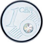 UHdesign Coin - versilbert - Juni- Mit Monatsstein - Jeder Monat in Einer Anderen Swarovski Kristallfarbe - in exklusiver Geschenkverpackung