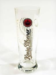 Unbekannt König Pilsener Bierglas Edition -Glas 2 von 3 Design Boris Becker Limited Edition mit original Autogramm
