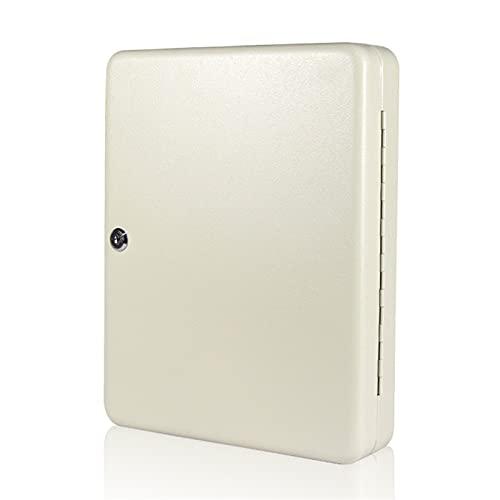 JKMINSA Teclas Gabinete Seguridad Caja de Almacenamiento Organizador Holder Bloqueado Caja de Llave Montaje de Pared Acero 60 Slots