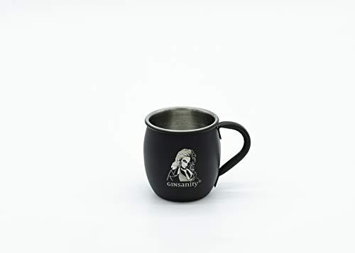 Ginsanity Gin Mini Steel Cups   Perfekt für Shots mit 60ml Füllmenge   Ideal für Gin, Vodka, Spirituosen   Stilvolles Bar-Zubehör