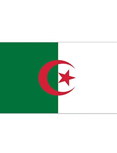 "TrendClub100® Fahne Flagge ""Algerien Algeria DZ"" - 150x90 cm / 90x150cm"