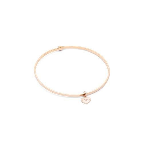 Pulsera Mr. Wonderful Love Yourself WJ30201 para mujer, color oro rosa.