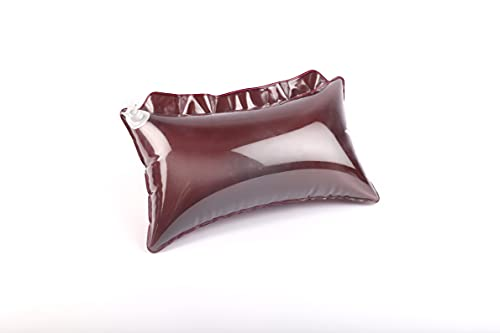 Abhishek-Enterprises-PVC-Inflatable-Air-Bed-Travel-Pillow-Cushion-for-Camping-Hiking-Backpacking-Transparent-Maroon