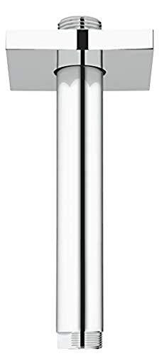 Grohe 27485000 Rainshower Braccio A Soffitto per Soffione Doccia, Lunghezza 142 mm, Cromo